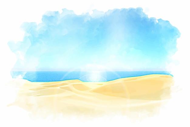 Handgeschilderde aquarel zomer achtergrond