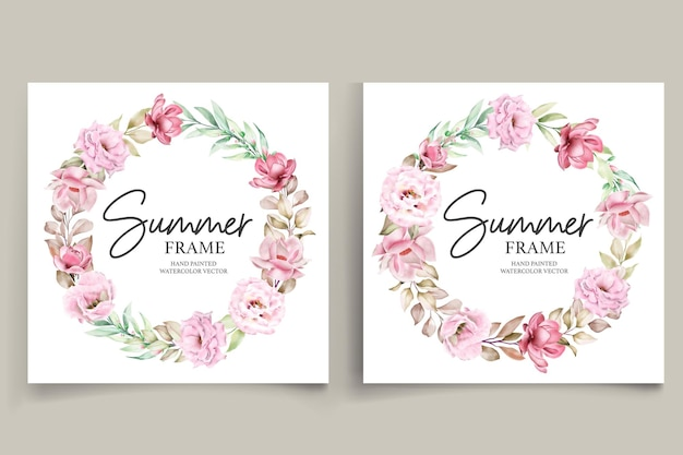 Handgeschilderde aquarel zomer bloemen frame illustratie