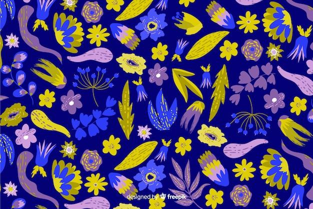 Handgeschilderde bloemenachtergrond
