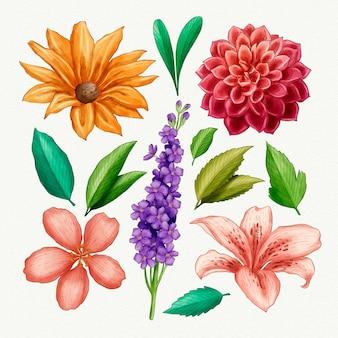 Handgeschilderde bloemencollectie