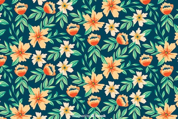 Handgeschilderde botanische achtergrond