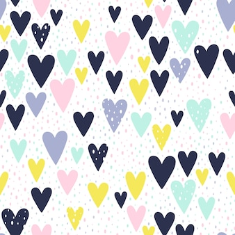 Handgeschilderde harten patroon