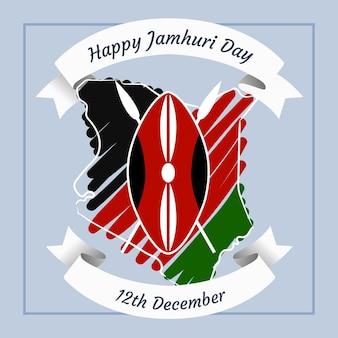 Handgeschilderde jamhuri-dag vieren