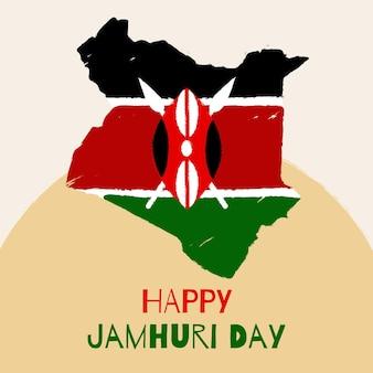 Handgeschilderde jamhuri-dag