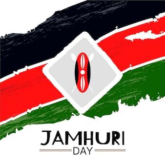 Handgeschilderde jamhuri-dagevenement