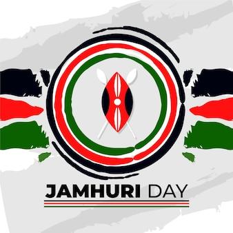 Handgeschilderde jamhuri-dagviering