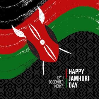 Handgeschilderde jamhuri day achtergrond