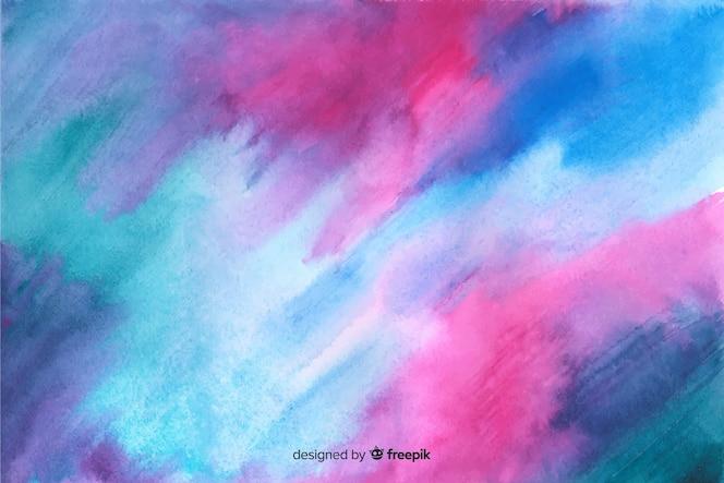 Handgeschilderde kleurrijke aquarel achtergrond