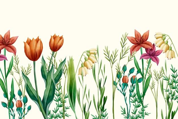 Handgeschilderde lente achtergrond