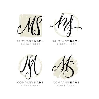 Handgeschilderde ms-logo's