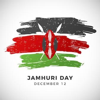 Handgeschilderde nationale kenia jamhuri-dag
