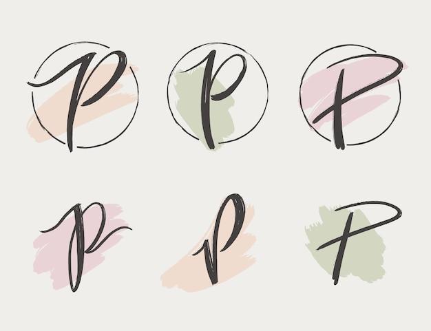 Handgeschilderde p logo collectie