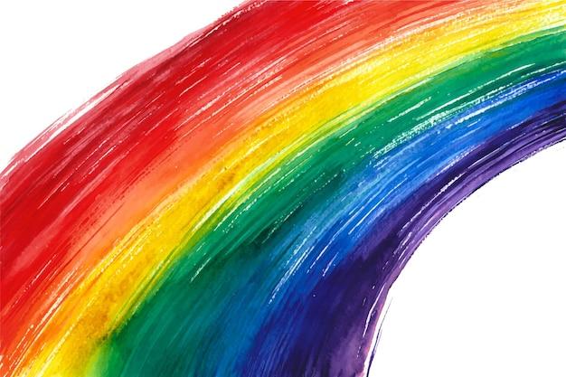 Handgeschilderde pride day flay