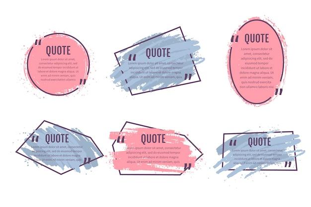 Handgeschilderde quote box frame-collectie