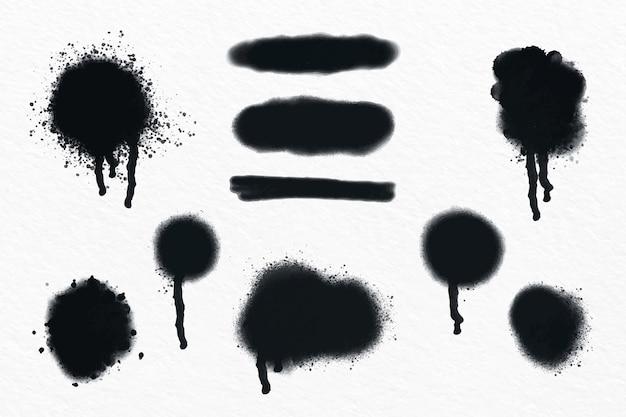 Handgeschilderde spuitlijnen en druppelscollectie