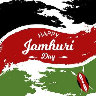 Handgeschilderde stijl jamhuri-dag