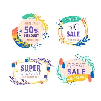 Handgeschilderde verkoop badges collectie
