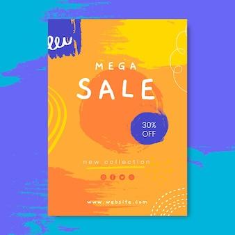 Handgeschilderde verticale verkoop poster sjabloon