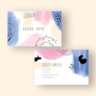Handgeschilderde visitekaartjes concept