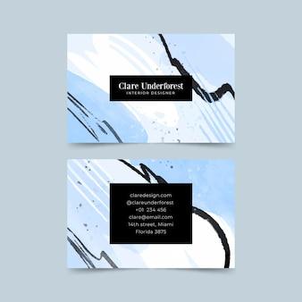 Handgeschilderde visitekaartjes