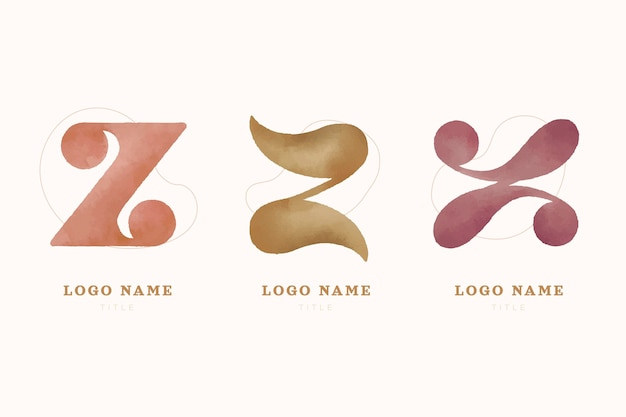 Handgeschilderde # z brief logo collectie