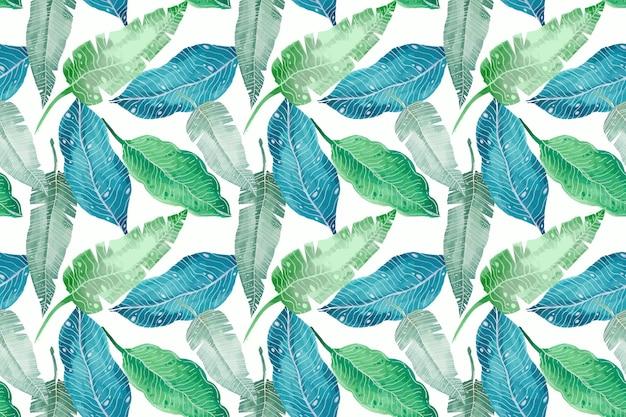 Handgeschilderde zomer tropisch patroon