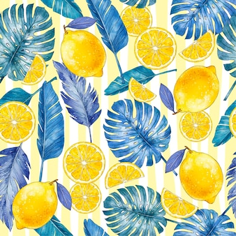 Handgeschilderde zomer tropische patroon