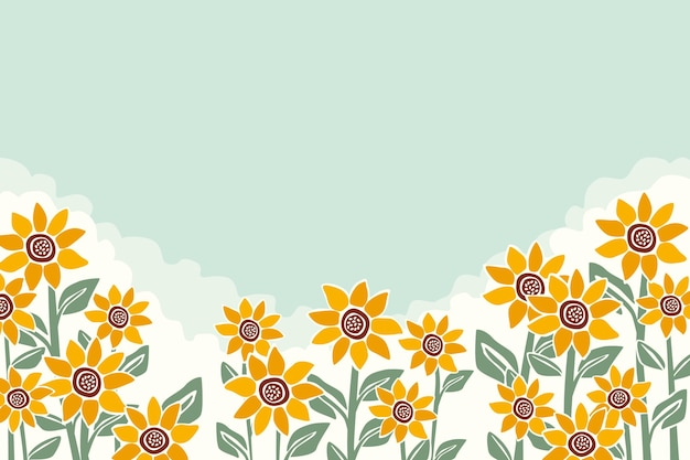 Handgeschilderde zonnebloem achtergrond