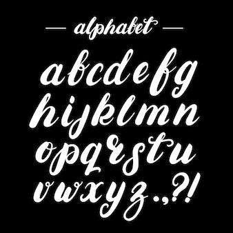 Handgeschreven borstel alfabet.