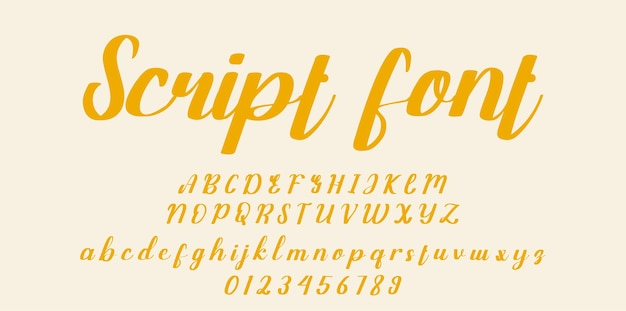 Handgeschreven script lettertype. penseel lettertype