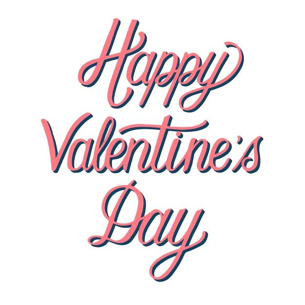 Handgeschreven stijl van happy valentine's day