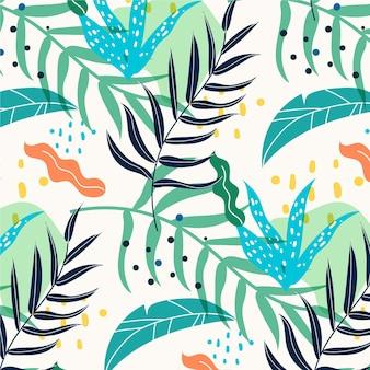 Handgetekend abstract natuurpatroon