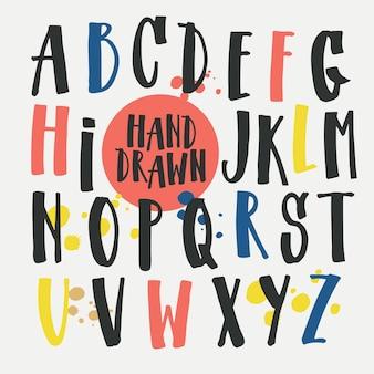 Handgetekend alfabet