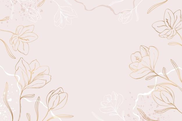 Handgetekend bloemenbehang