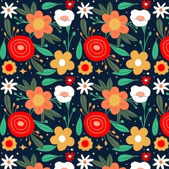 Handgetekend bloemmotief