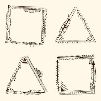 Handgetekend boho-framepakket