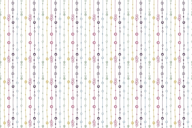 Handgetekend boho-patroonontwerp graveren Gratis Vector