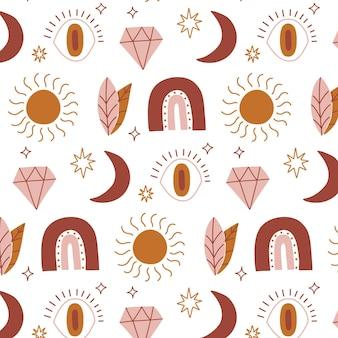 Handgetekend boho-patroonontwerp