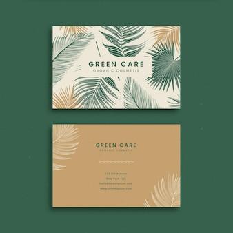 Handgetekend dubbelzijdig visitekaartje