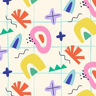 Handgetekend kleurrijk vormenpatroon