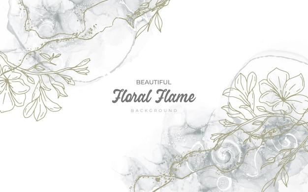 Handgetekend ontwerp met bloemenachtergrond