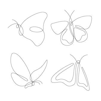 Handgetekend vlinderoverzichtspakket