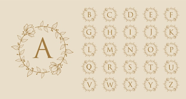 Handgetekend vrouwelijk schoonheid minimaal bloemen botanisch logo a tot z eerste letter logo voor merk