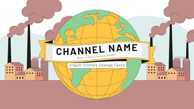 Handgetekend youtube-kanaal over klimaatverandering