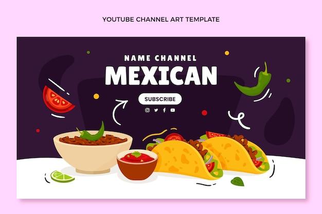 Handgetekend youtube-kanaal voor mexicaans eten