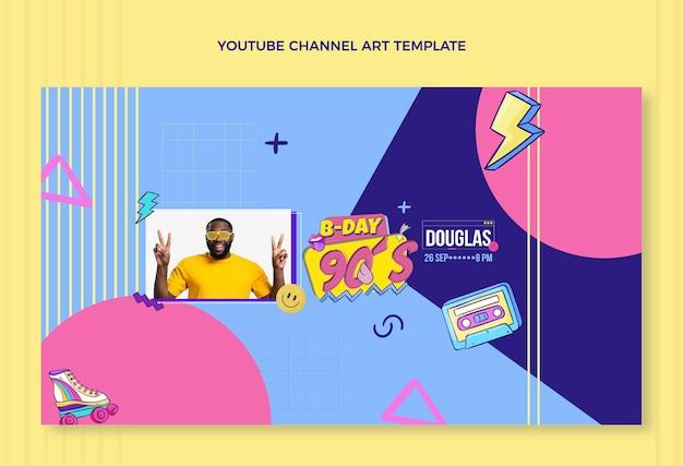 Handgetekend youtube-kanaal voor verjaardag uit de jaren 90
