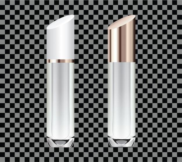 Handgetekende 3d van glazen buizen voor parfum of lippenstift.