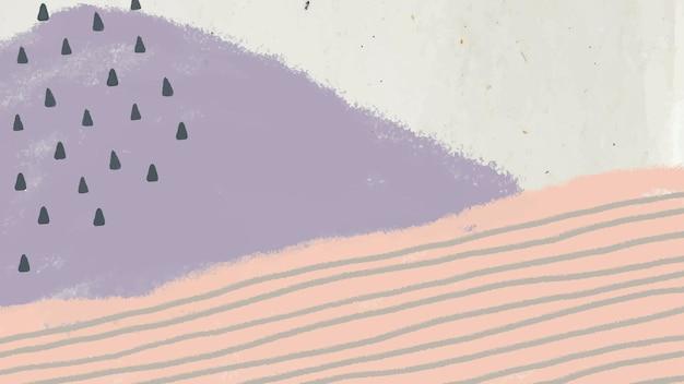 Handgetekende abstracte landschapsachtergrond
