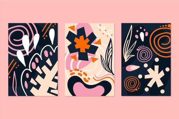 Handgetekende abstracte vormen covers