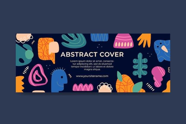 Handgetekende abstracte vormen facebook omslag